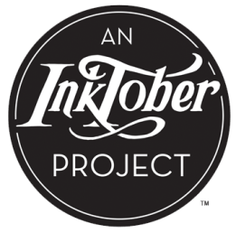 an inktober project logo black