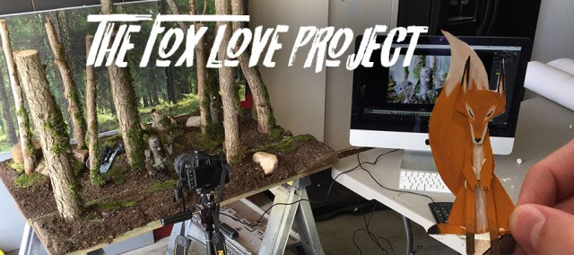 fox love stop motion set project