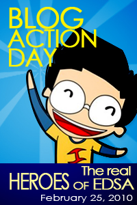 Kabataan Partylist's Feb 25, 2010 Blog Action Day on the Real Heroes of EDSA