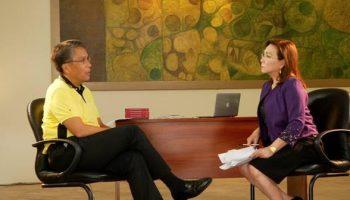 Mel Tiangco interviews Mar Roxas