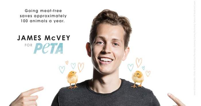 The Vamps' James McVey for PETA