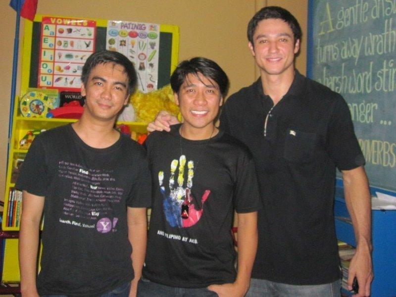 Ederic Eder, Efren Peñaflorida, and Andrew Wolff