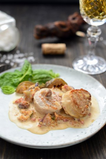 Pork Medallions with Figs and Mushrooms