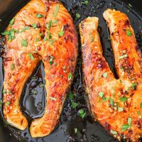 Pan-Seared Salmon Steaks