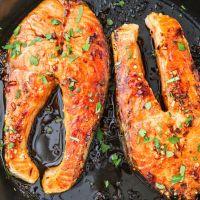 Pan-Seared Salmon Steaks