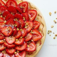 Strawberry Tart with Red Wine Caramel