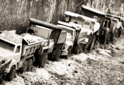 Dump Trucks at the Dump