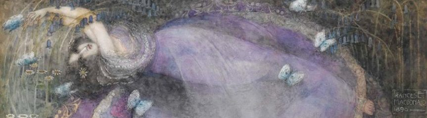 Banner - Ophelia drowned watercolor Frances Macdonald MacNair 1898 - Hamlet Ophelia relationship pregnant