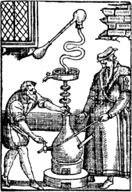 Alembic woodcut - Life Death King Edward