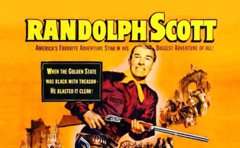 Poster for The Man Behind the Gun - limerick Randolph Scott Hollywood