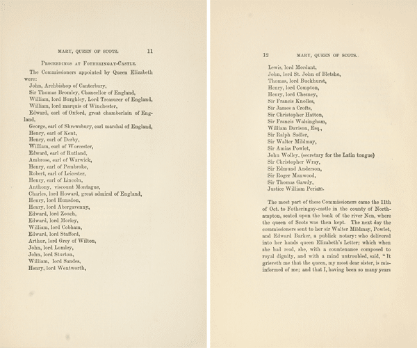 Commissioners list Lloyd 1899 - Mary Queen Scots trial