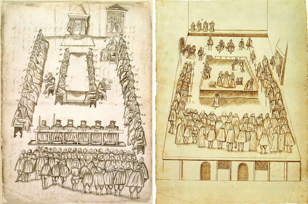Beale - trial and execution drawings - Mary Queen Scots trial