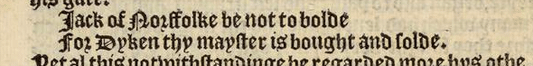 Hall's Chronicle quote Jack of Norffolke - guide Howard dukes Norfolk