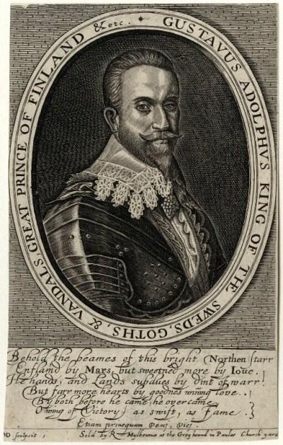 Droeshout engraving 04 GAdolphus - First Folio Droeshout engraver