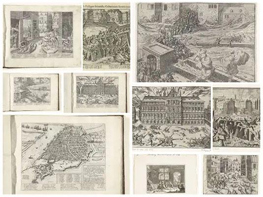 Sack of Antwerp image mosaic - Flanders Gascoigne Spain Burghley