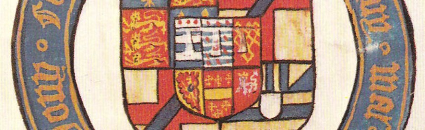 Banner - detail of coat of arms of Arthur Plantagenet, 1st Viscount Lisle
