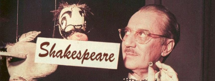 Banner - You Bet Your Life Groucho and duck - secret word Shakespeare - Shakespeare Authorship joke Twitter