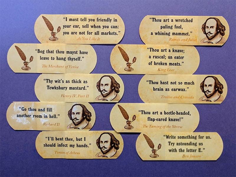 Willy insult bandages plus one - Stratford snarky insult bandages