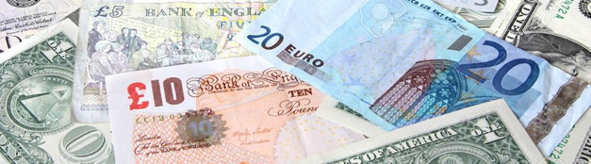 Banner - assorted banknotes