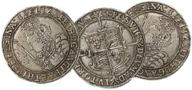 Three Elizabethan silver pennies - StAlbans portrait subject error
