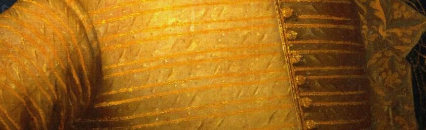 banner - detail, gold doublet neo-Welbeck - De Vere website ode