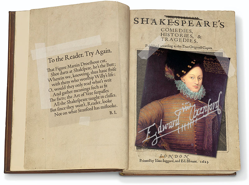 First Folio title page, fixed by the author - Shakespeare First Folio auction result