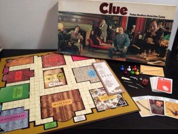 Clue board game circa 1972 - StAlbans portrait subject error