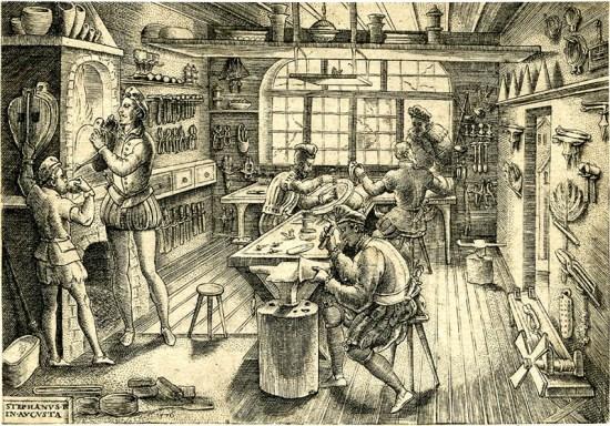 Etienne Delaune workshop, Augsburg 1576, window shopper