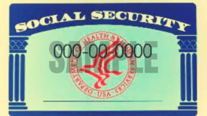 Social security Number card