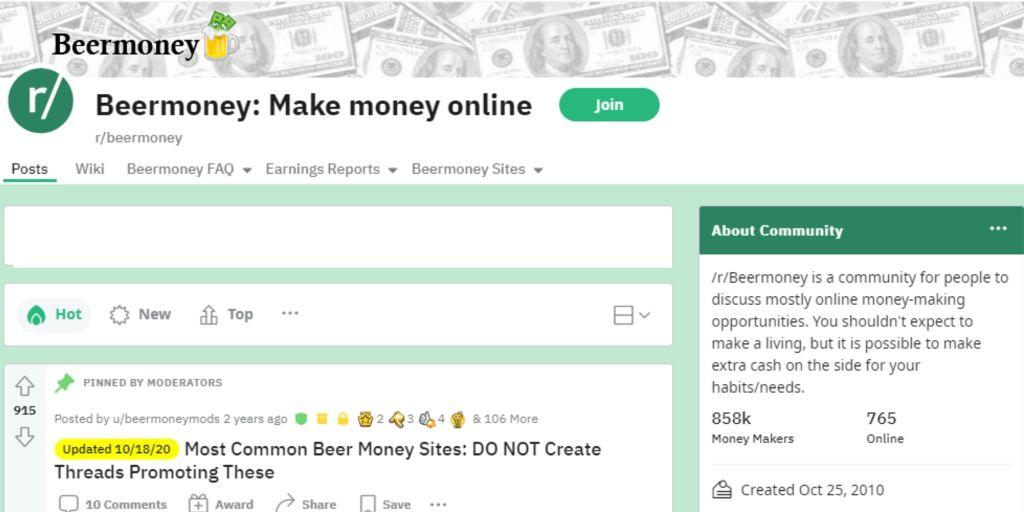 Beer Money Reddit