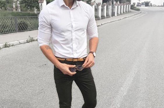 comment choisie sa chemise cintré couleur blanche pour homme