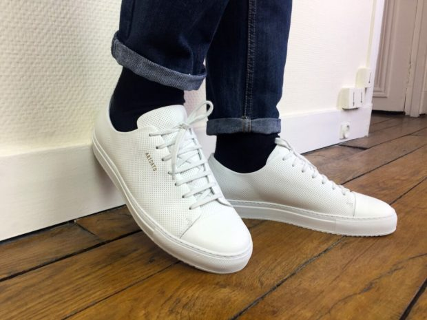 Sneaker Axel Arigato cap toe focus lettre dorée