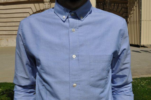 Drapeau Noir chemise oxford bleu pour homme