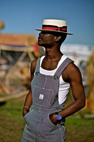 chapeau pour homme modèle canotier