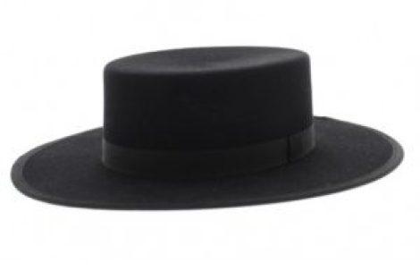 chapeau pour homme cordobes zorro noir