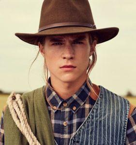 chapeau marron cowboy pour homme
