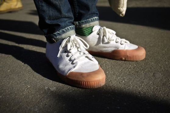 basket streetwear springcourt basse blanche pour homme