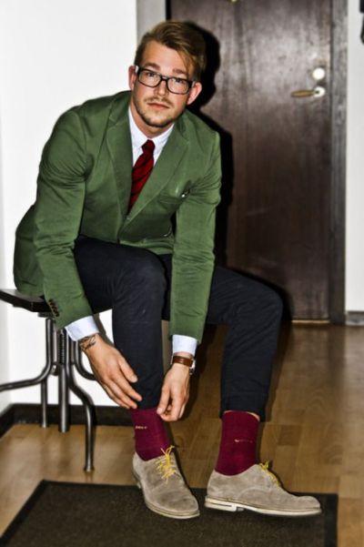 accessoire rouge homme couleur
