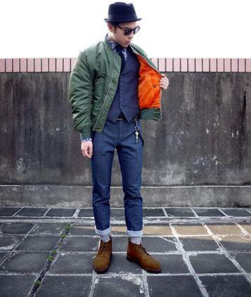 les couleurs tendances de l'été 2017 pour homme avec le bomber orange