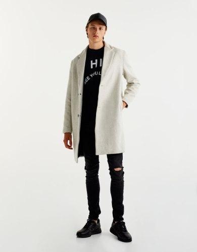 Tenue homme manteau long blanc
