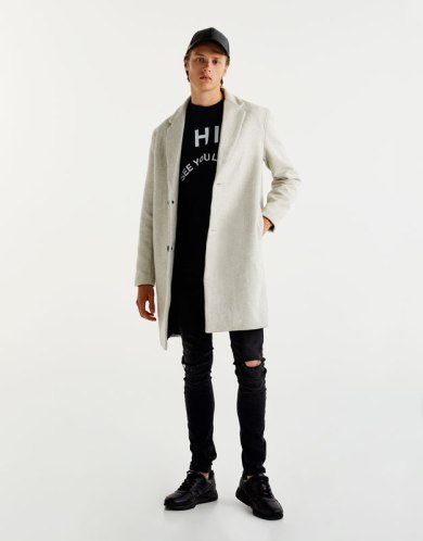 Tenue homme manteau long blanc