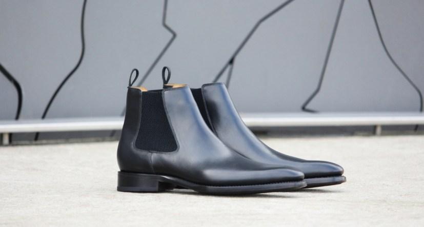 Les Crafteurs bottines Chelsea en cuir noir pour homme