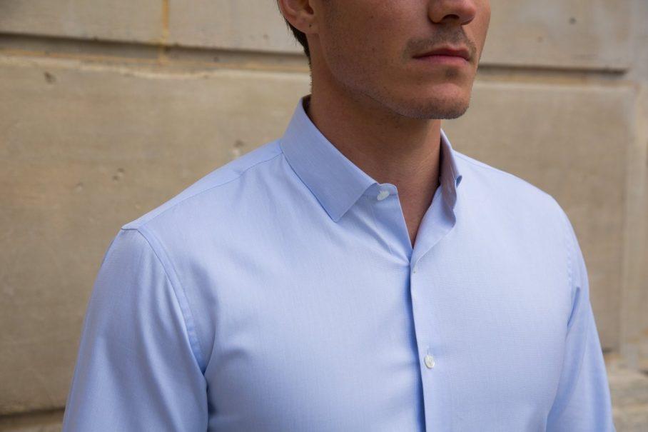 chemise blanche première manche homme