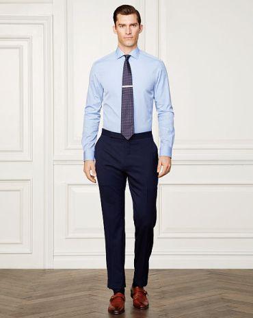 tenue homme chemise bleu de luxe