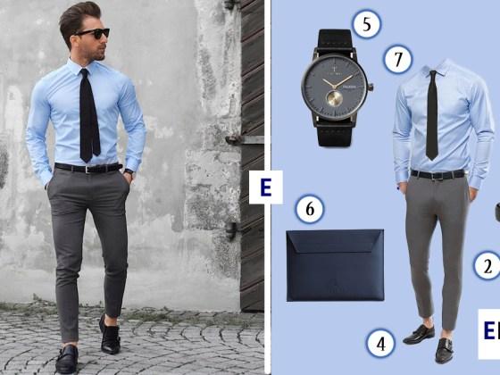 tenue homme look de la semaine chemise bleu