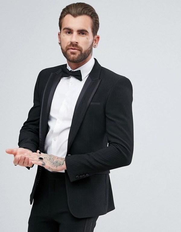 tenue pour nouvel an veste noir slim