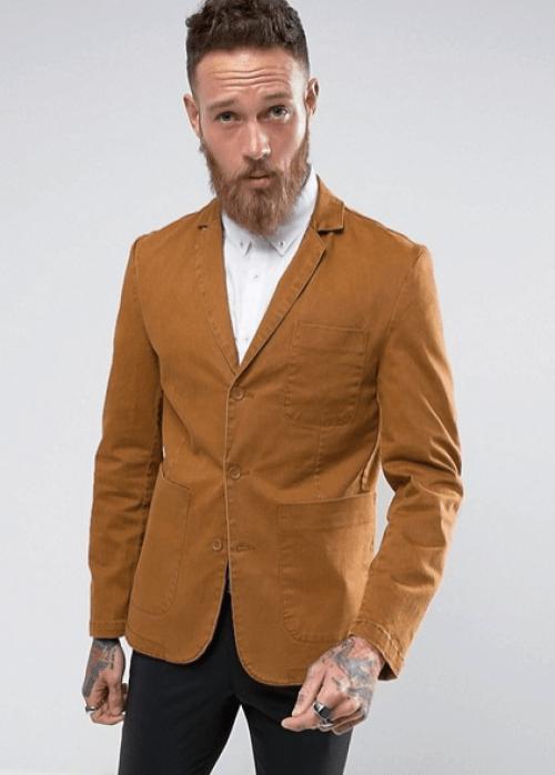blazer homme marron asos