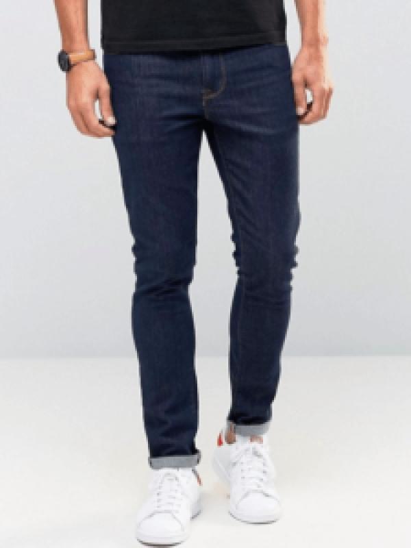 idée de tenue homme jean brut bleu