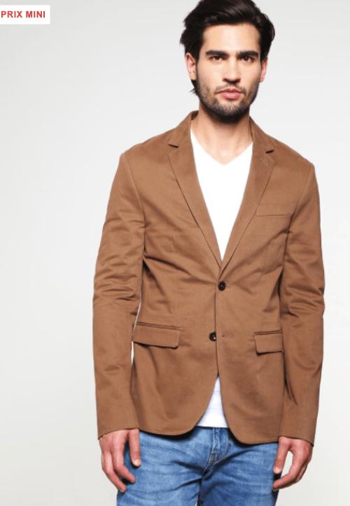 blazer marron homme pier one veste courte