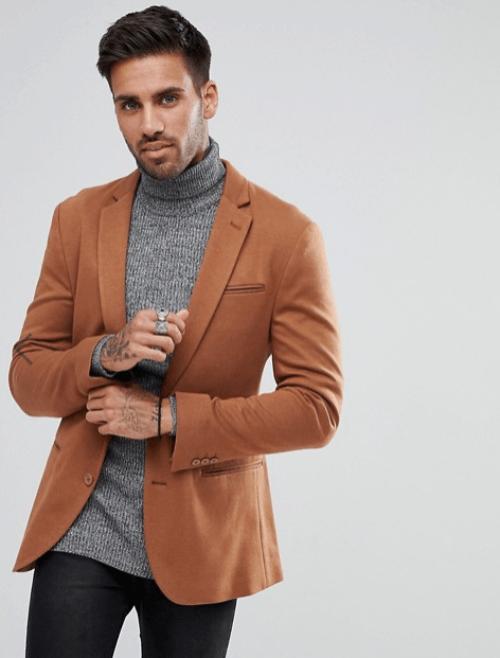 veste marron pour homme